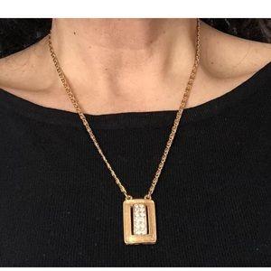 1970s SARAH COV GoldTone & Rhinestone Necklace